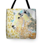 Mountain Goat Collage Tote Bag