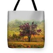 Mountain Haze In A Oak Glen Autumn Tote Bag