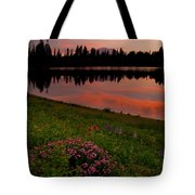 Mountain Heather Reflections Tote Bag
