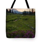 Mountain Heather Sunset Tote Bag
