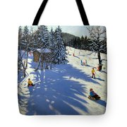 Mountain Hut Tote Bag by Andrew Macara