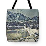 Mountain Lake, California Tote Bag