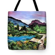 Mountain Lake Tote Bag