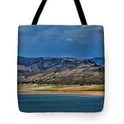 Mountain Lake Dark Clouds Looming Tote Bag