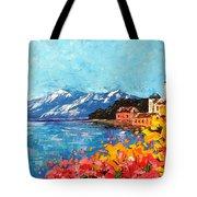 Mountain Lake In Italy Tote Bag