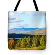 Mountain Lake In The Fall Tote Bag