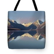 Mountain Lake Reflection Tote Bag