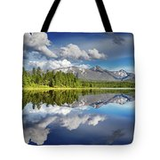 Mountain Lake With Reflection Tote Bag