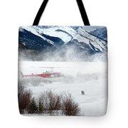 Mountain Landing Tote Bag by David Buhler