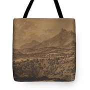 Mountain Landscape With A Hollow Tote Bag