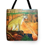 Mountain Lion In Thought Tote Bag