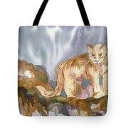 Mountain Lion On The Rocks  Tote Bag
