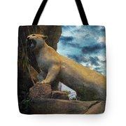 Mountain Lion - Paint Fx Tote Bag