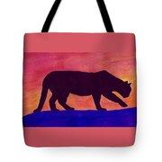 Mountain Lion Silhouette Tote Bag