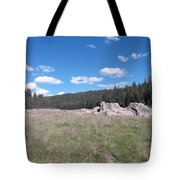 Mountain Meadow Above Cuba,nm Tote Bag