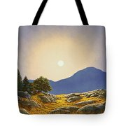 Mountain Meadow In Moonlight Tote Bag