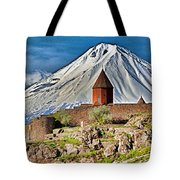 Mountain Monastery Tote Bag