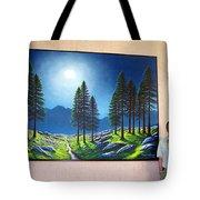 Mountain Moonglow Mural Winner Of The 2005 Coba Peoples Choice Award  Tote Bag