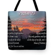Mountain Morning Prayer Tote Bag