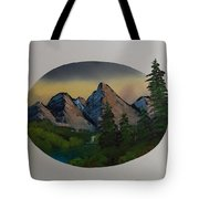 Mountain Oval Tote Bag