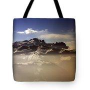 Mountain Panorama And Mist Les Gets Portes Du Soleil Morzine Haute Savoie France Tote Bag
