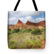 Mountain Peaks At Caprock  Tote Bag