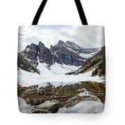 Mountain Picture Lake Agnes Tote Bag