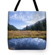 Mountain Pond And Sky Tote Bag