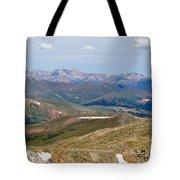 Mountain Range From Mount Evans Summit Tote Bag