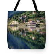Mountain Reflected In Lake Tote Bag