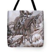 Mountain Ride Historical Vignette Tote Bag