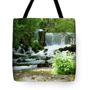 Mountain River Spring Tote Bag