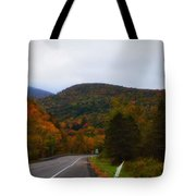 Mountain Road, Killington Vermont Tote Bag