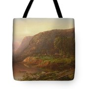 Mountain Scene On The Ohio River Tote Bag