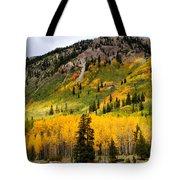 Mountain Side Autumn Tote Bag