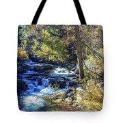 Mountain Stream In Fall Tote Bag