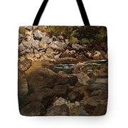 Mountain Stream With Boulders Tote Bag