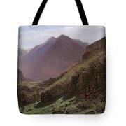 Mountain Study Tote Bag by Alexandre Calame