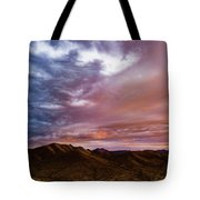 Mountain Sunset In New River Tote Bag