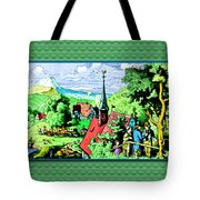 Mountain To Child And Lots Inbetween. Tote Bag
