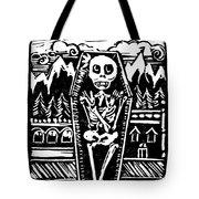 Mountain Town Skeleton Tote Bag