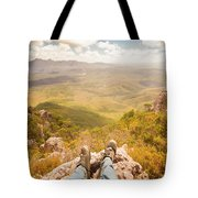 Mountain Valley Landscape Tote Bag