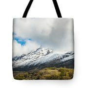 Mountain View Patagonia Chile Tote Bag