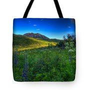 Mountain Wildflowers And Light Whispers Tote Bag