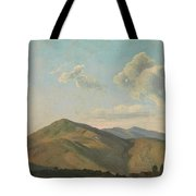 Mountainous Landscape At Vicovaro, Simon Denis Tote Bag