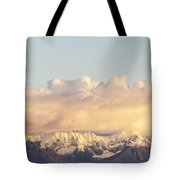 Mountains And Clouds Tote Bag