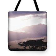 Mountains And Smoke, Ngorongoro Crater Tote Bag