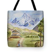 Mountains And Valley Tote Bag