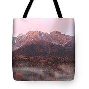 Mountains At Dawn Tote Bag