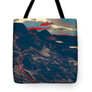 Mountains By Red Road Tote Bag
